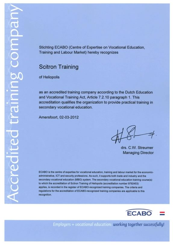 Certification Training Courses Accreditation