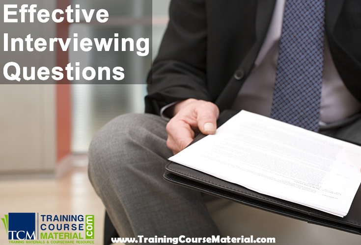 Effective interviewing questions