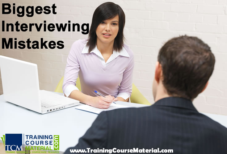 biggest interviewing mistakes