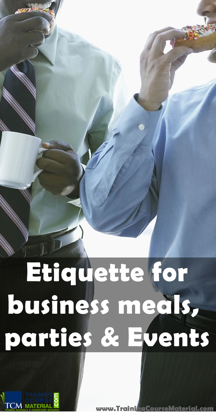 etiquette for business meals-parties-events