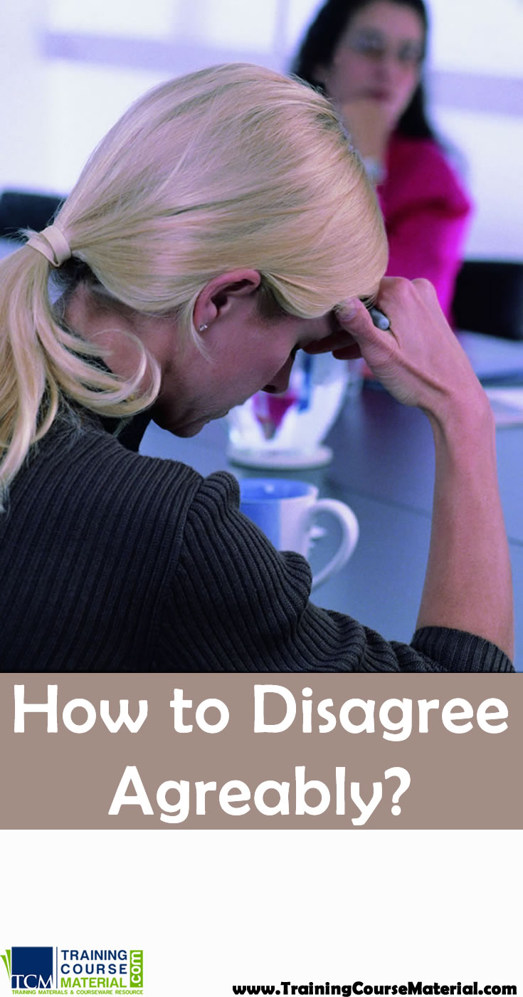 how to disagree agereably and resolve conflict