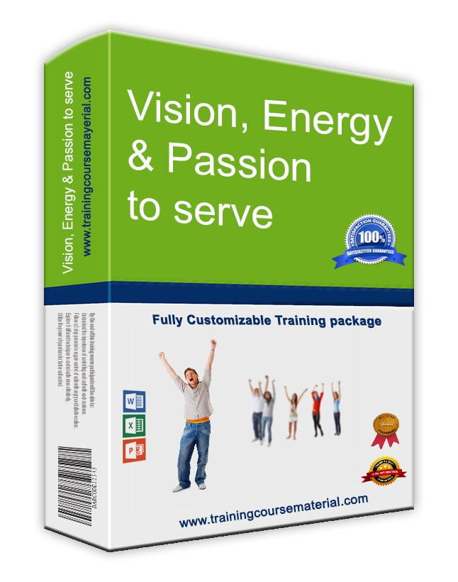 Vision, Energy & Passion To Serve