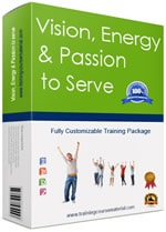 Customer service skills training course material package