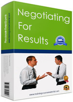 Negotiation skills training course package