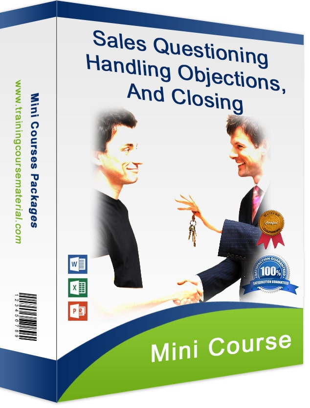 Professional sales questioning training course materials