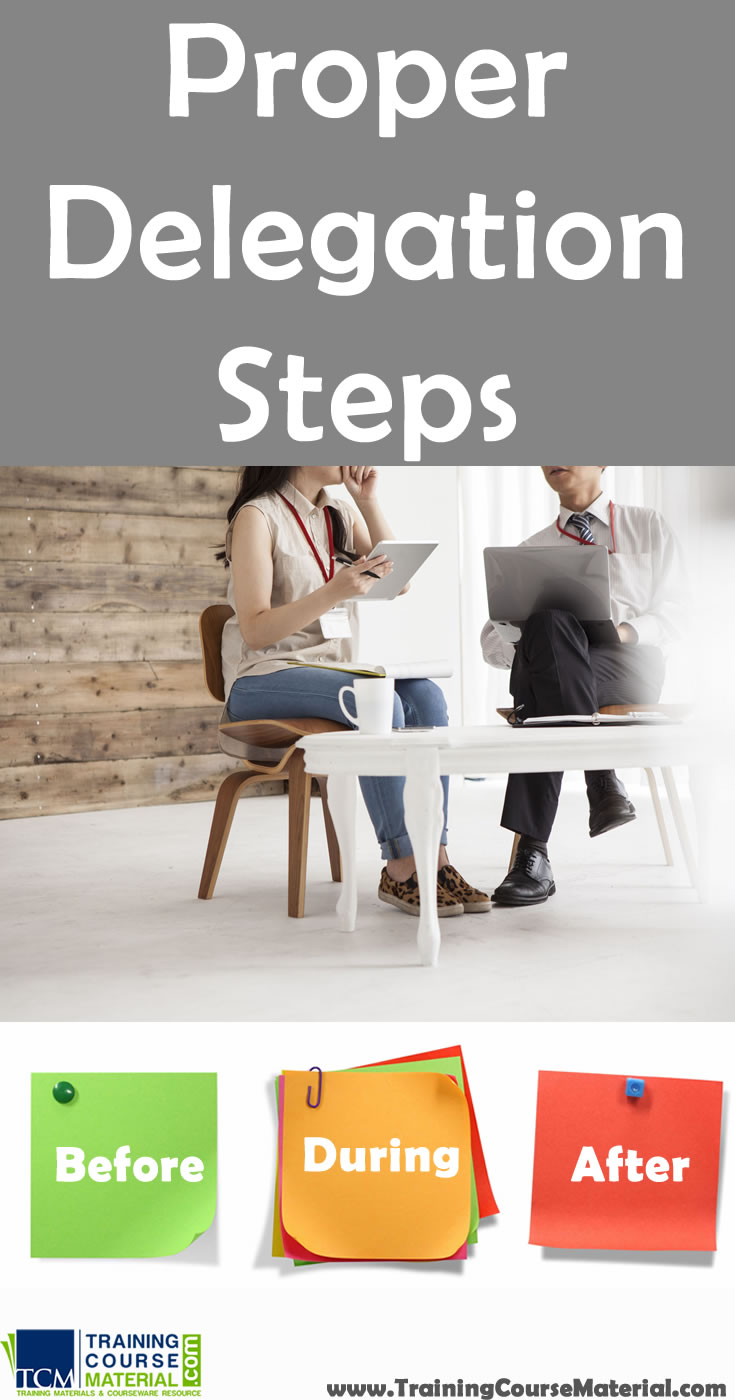 proper steps for delegation