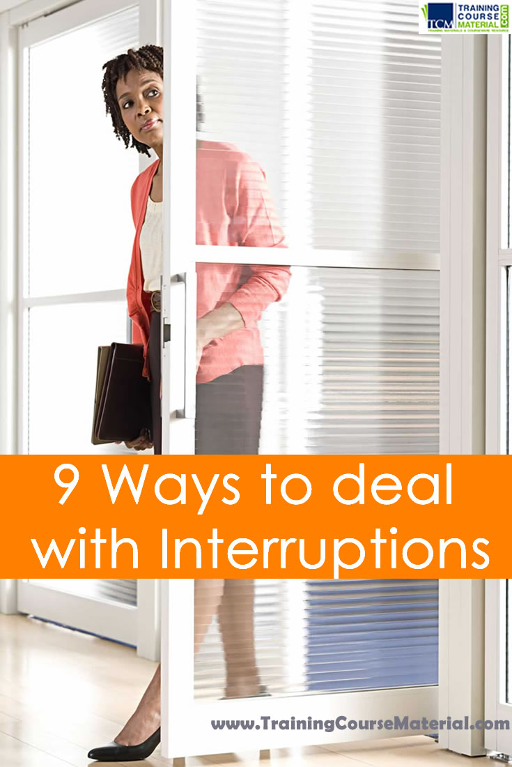 ways to deal with interruptions in the workplace